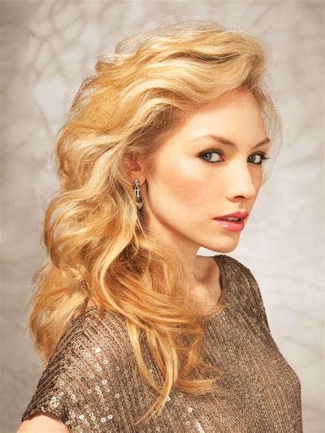 long golden blonde hair   lifted side swept fringe