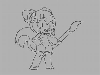 Krita Animation Drawing Kiki Cartoon 2d Reference
