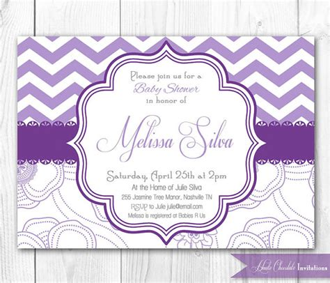 lavender baby shower invitations  printable baby
