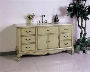 60 inch single sink bath vanity with travertine top uvlfw54291160