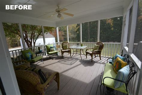 a screened porch for warm summer days