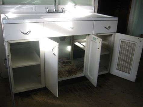 youngstown metal kitchen cabinets youngstown metal kitchen cabinet and sink forum bob vila 1700