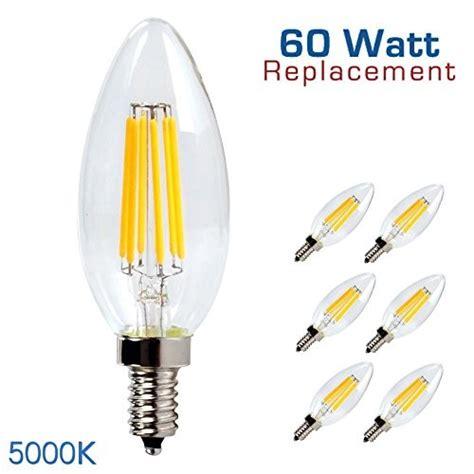 luxrite lr21209 6 pack 6w led filament candelabra bulb