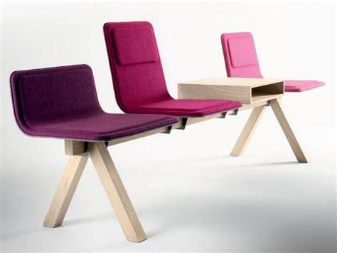 chaises salle d attente chaises sur poutre en tissu collection laia by alki