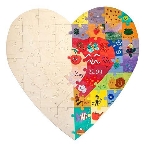 holz puzzle bemalen zur hochzeit aktion und geschenk