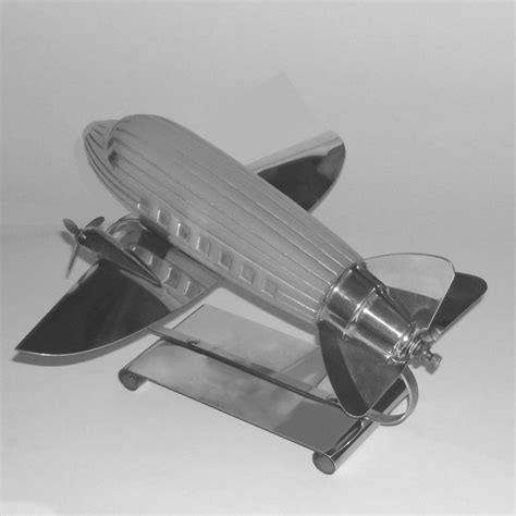 original art deco airplane l w illuminating glass at
