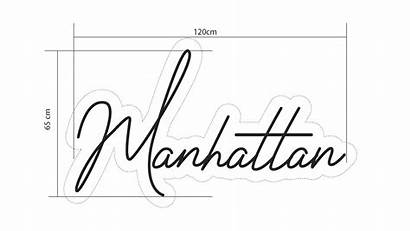 Neon Manhattan Sketch Led Events Signs Hineon