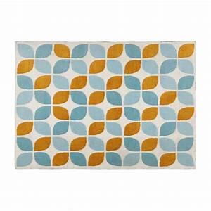 Maison Du Monde Tapis Enfant : tapis en tissu motifs orange et bleus 160x230cm seven ~ Teatrodelosmanantiales.com Idées de Décoration