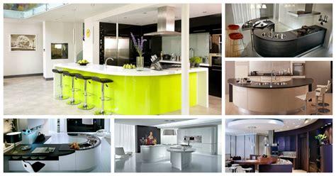 impressive curved kitchen island designs