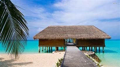 Beach Desktop Stilts Wallpapers Backgrounds Island Wallpaperplay