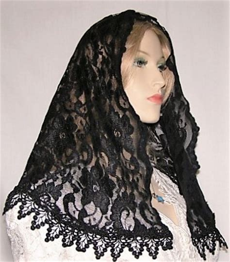 trimmed mantilla veils headcoverings shabbat veils head coverings