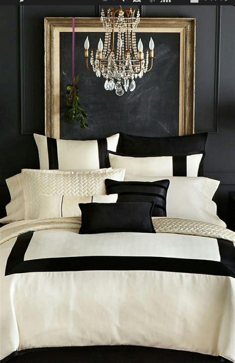 chambre baroque noir et blanc décoration noir blanc or e interiorconcept