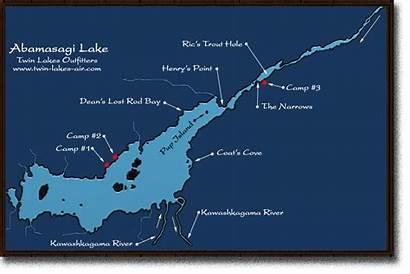Fishing Map Ontario Walleye Lakes Twin Air