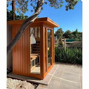 clearlight sanctuary 2 outdoor infrared sauna northern
