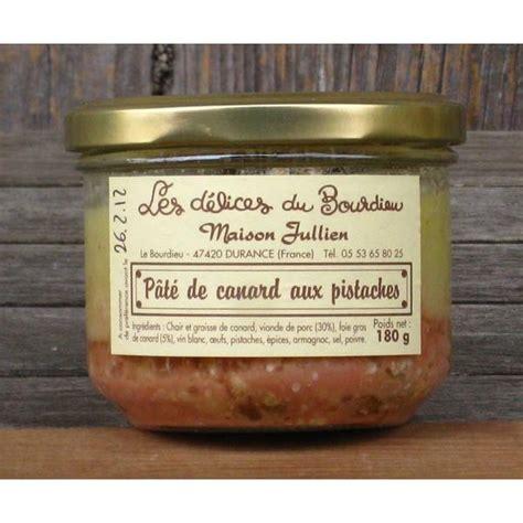acheter pate de pistache acheter pat 233 de canard aux pistaches du lot et garonne