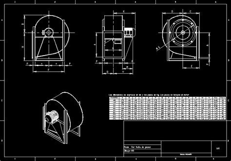 Centrifugal Fan Air DWG Block for AutoCAD ? DesignsCAD