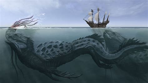 Sea Monster Hd Wallpaper Background Image 1920x1080