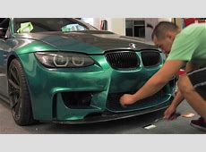 BMW m3 vinyl wrapped emerald green YouTube