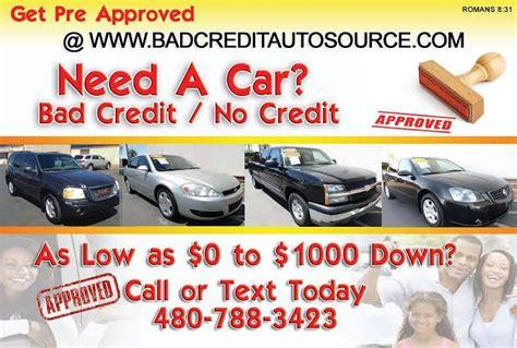 cars bad credit auto loans specials tempe az