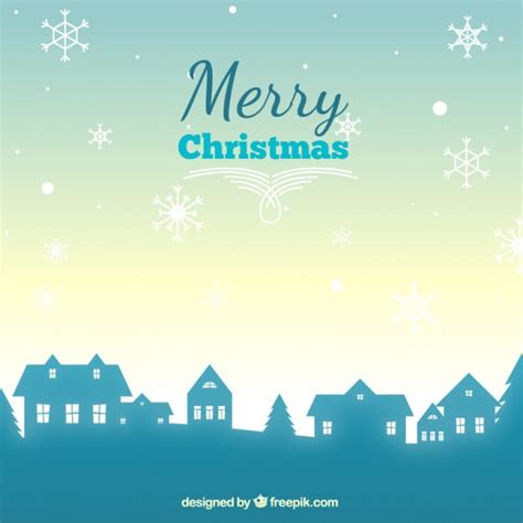 christmas village trees silhouette template christmas village silhouette background vector free download