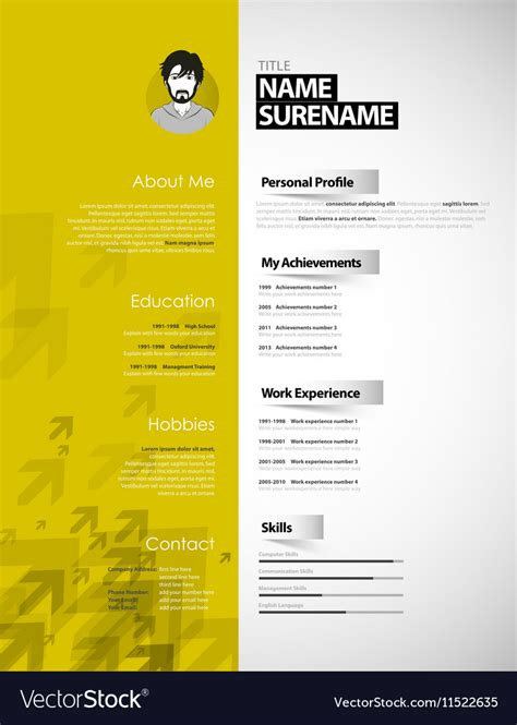 Free Curriculum Template by 15 Curriculum Vitae Design Wilayadeltarf