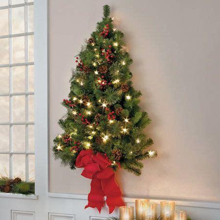 classic christmas pre lit wall tree