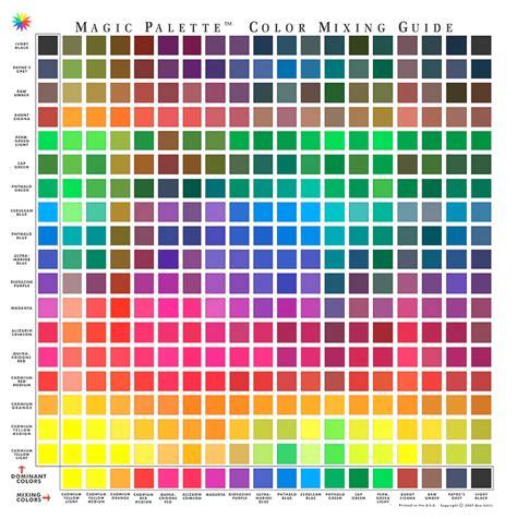 magic palette color mixing guide 324 hues foxy studio