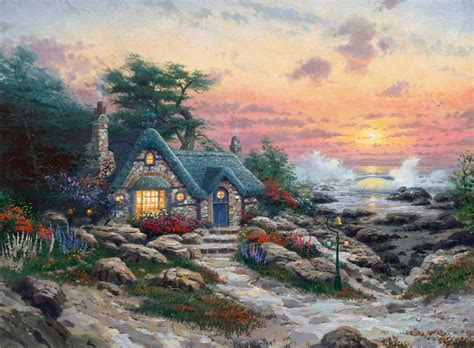 kinkade cottage paintings cottages