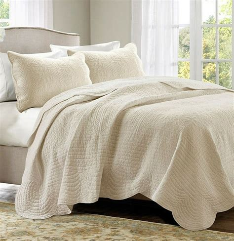Bedroom Coverlets by Ivory Matelasse 3pc King Quilt Set Cottage Coverlet