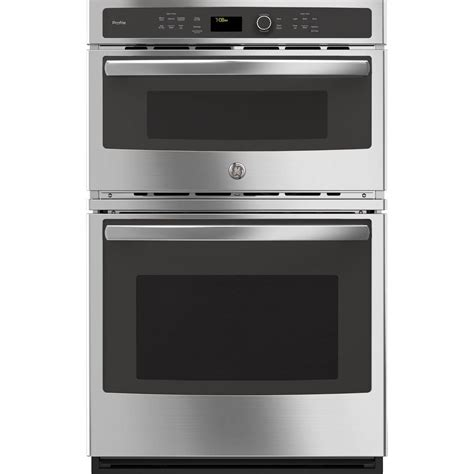 ge profile   built  combination convection microwave wall oven  stainless steel