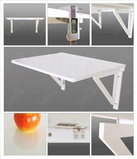 tablette rabattable cuisine sobuy fwt05 w table murale rabattable pliable en bois 75