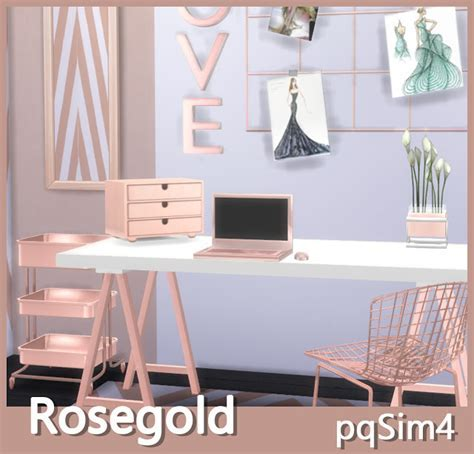 Rose Gold Decor at pqSims4 » Sims 4 Updates