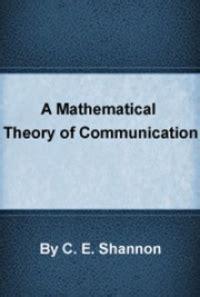 mathematical theory  communication    shannon  book