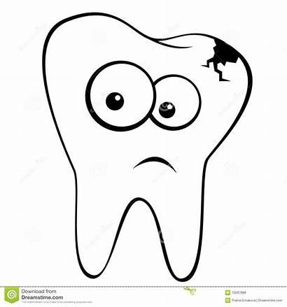 Sad Zahn Triste Dent Tand Tooth Trauriger