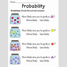 Lots Of Probability Worksheets And Math Stations!!  Math  Pinterest  Different Shapes, Jars