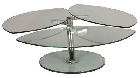 bureau avec retour pas cher table basse en verre pétale 3 plateaux table basse verre
