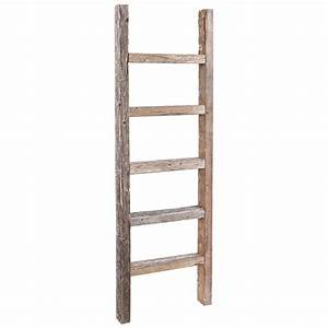 RusticDecor 4 ft Wood Decorative Straight Ladder & Reviews