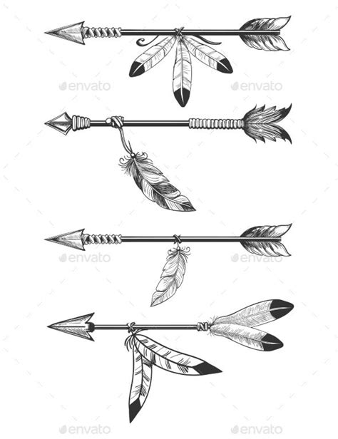 arrows  feathers  beads tattoo ideas feather