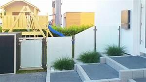 Gartenzaun Mit Tor : zaun mit tor aus lackiertem stahl und mattem glas ~ Frokenaadalensverden.com Haus und Dekorationen