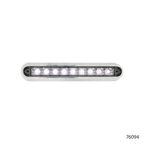 6 5 flush mount led light bar with chrome base 76094