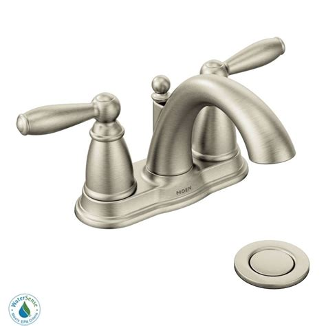 moen brushed nickel kitchen faucet faucet com 6610bn in brushed nickel by moen