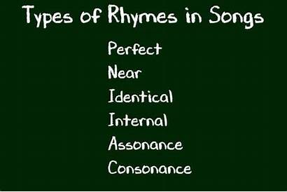 Types Rhyme Rhymes Words Songs Different Song