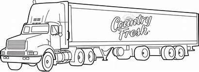 Coloring Truck Pages Transport Picolour