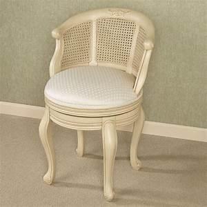 belhurst, natural, cherry, swivel, vanity, chair