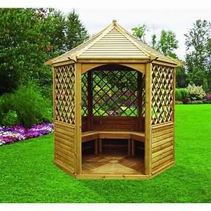 Solde Coffre De Toit : pavillon de jardin en bois abri de jardin resine toit plat horenove ~ Voncanada.com Idées de Décoration