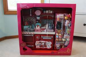 18 Inch Doll Kitchen Furniture Opening Review Of Our Generation Kitchen Set