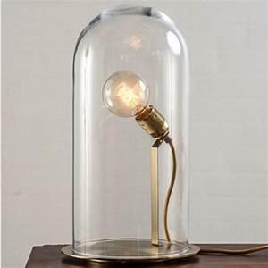 Lampe Globe Verre : lampe poser shadow la petite laiton et verre transparent ledition ~ Teatrodelosmanantiales.com Idées de Décoration