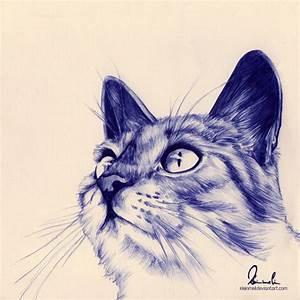 Ballpoint Pen Kitty by kleinmeli on DeviantArt