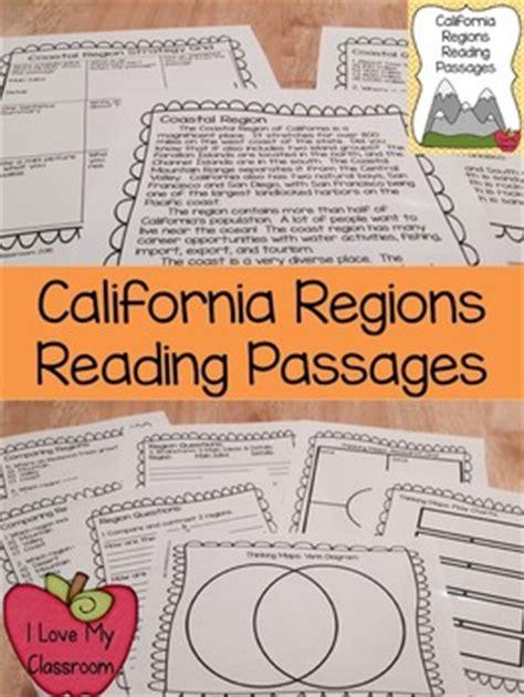 california regions reading passages   love  classroom