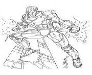 iron man et son armure superheros coloring pages printable